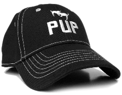 Pup Baseball Cap in Black CP26